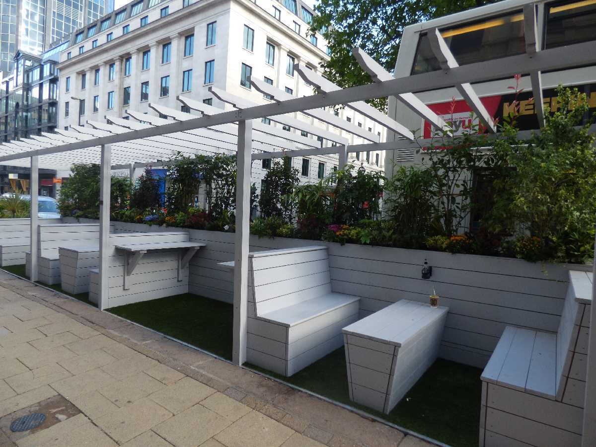 Parklets around the Colmore Business District